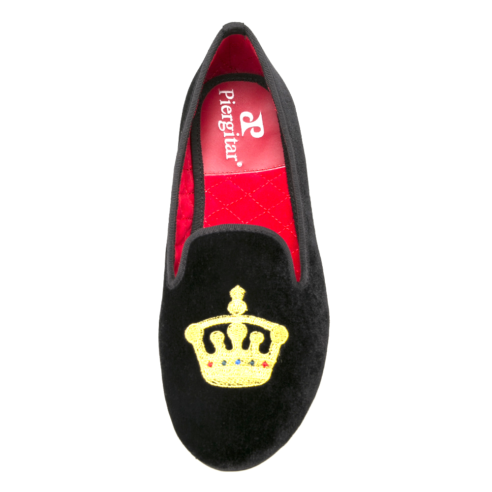 embroidery velvet slipper in china factory black shoes women dEqdwz