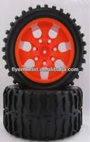 2PCS Wheel Rim & Tires HSP 1:10 Monster truck RC Car 12mm Hub(8014)