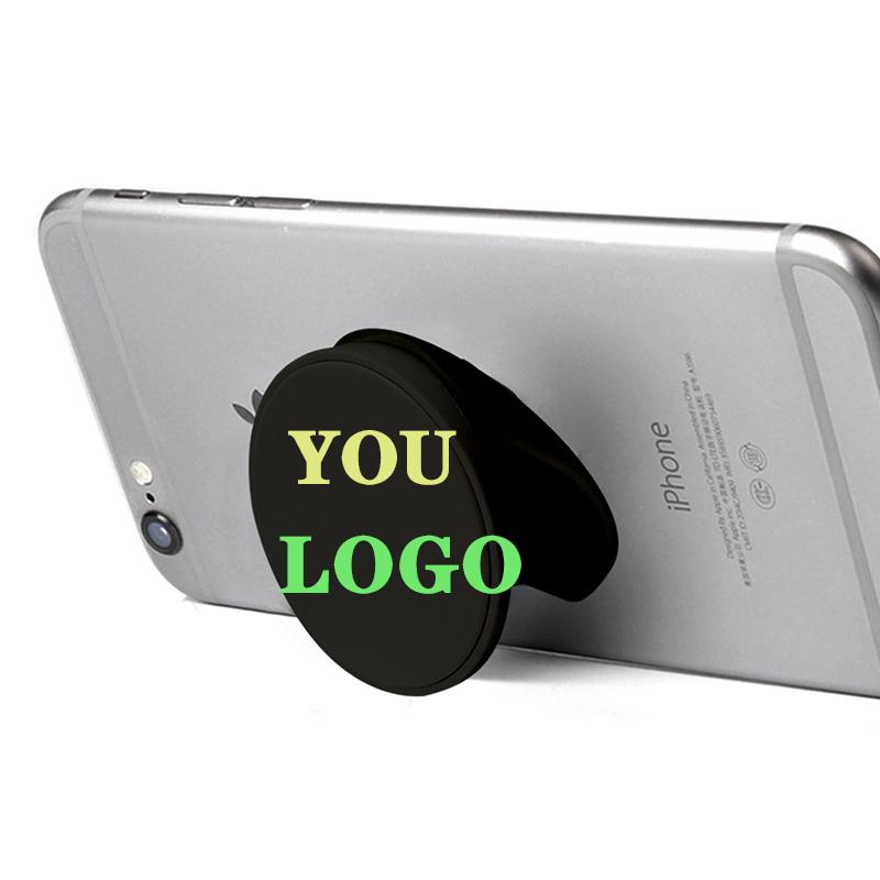 OEM Promotional gifts factory outlet phone socket holder grip custom logo mobile phone holder socket