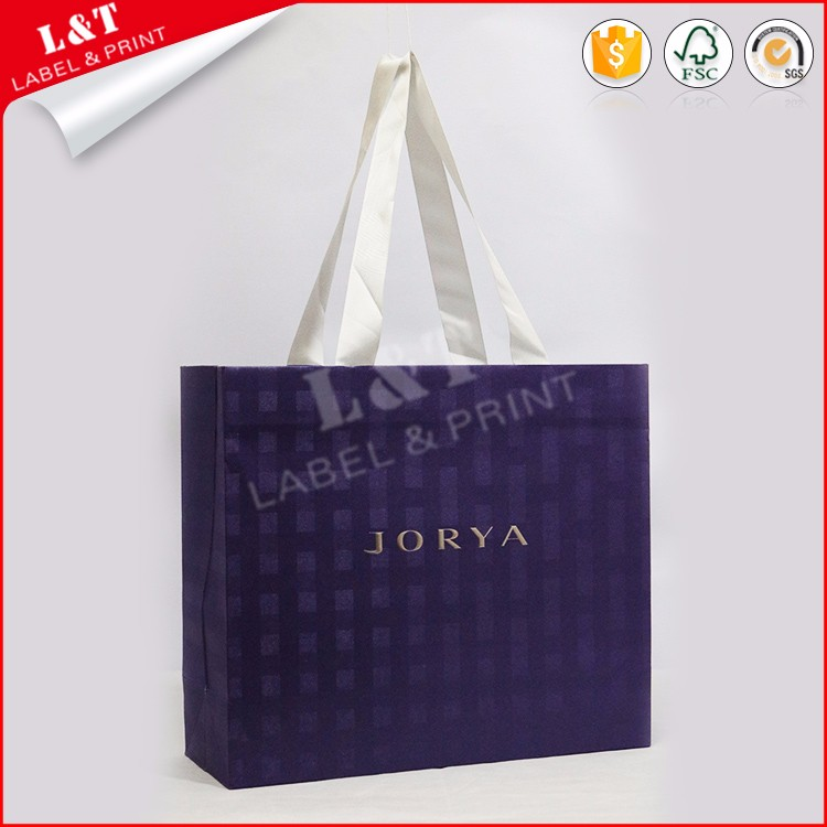 Luxury laminationed fancy shopping gift paper bag