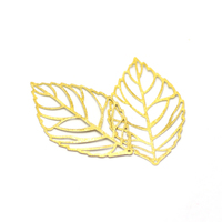 53mm mobile accessories jewelry making supplies gold maple leaf pendant