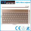 Rechargeable golden color mini wireless keyboard for smartphone gaming use