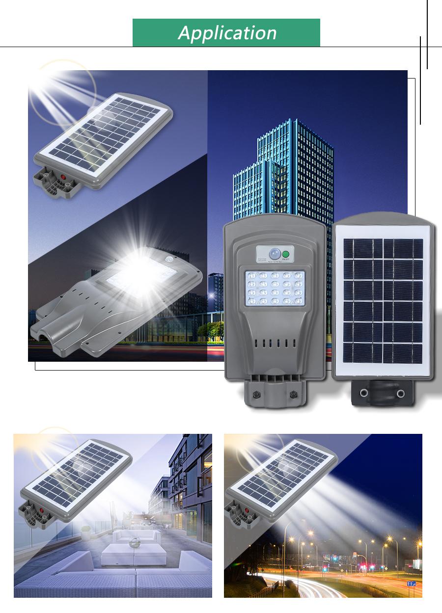 Wholesale green energy panel 20W 40W 60W all in one Waterproof ip65 outdoor solar led street lamp