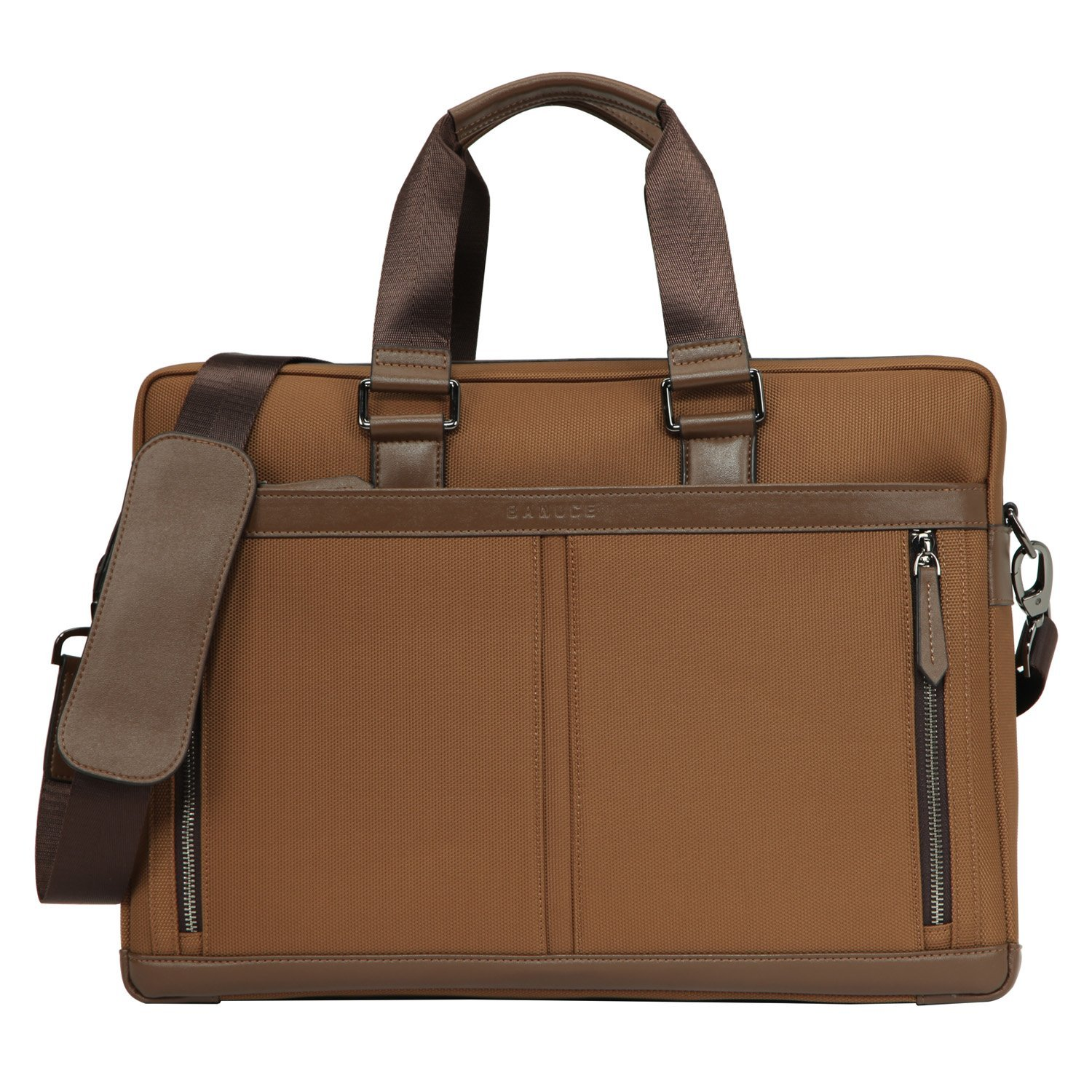 Banuce Mens Waterproof PU Leather Briefcase Tote Bag Attach Case 14 Laptop