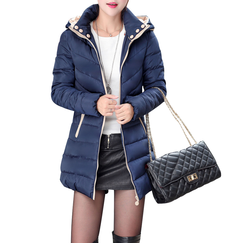 c3c39b83931 Get Quotations · Long Padded Parka Slim Outdoor Womens Winter Jackets  Ladies Coats Poncho Anorak Hooded Warm Plus Size