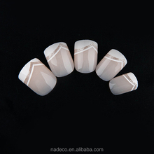 Top selling French nails 24PCS pink nails for fingers accept customized design