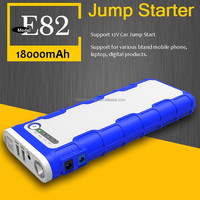 UL Certification 18000mAh Quick Charge Multi-function Portable Car Battery Charger with Smart Jumper Cable