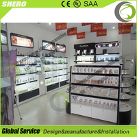 Hot sale Stainless Steel Perfume Shop Displays Showcase