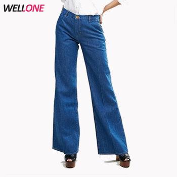 f490c134ccb7 100% cotton regular fit fashion non stretch denim women new model jeans  pants