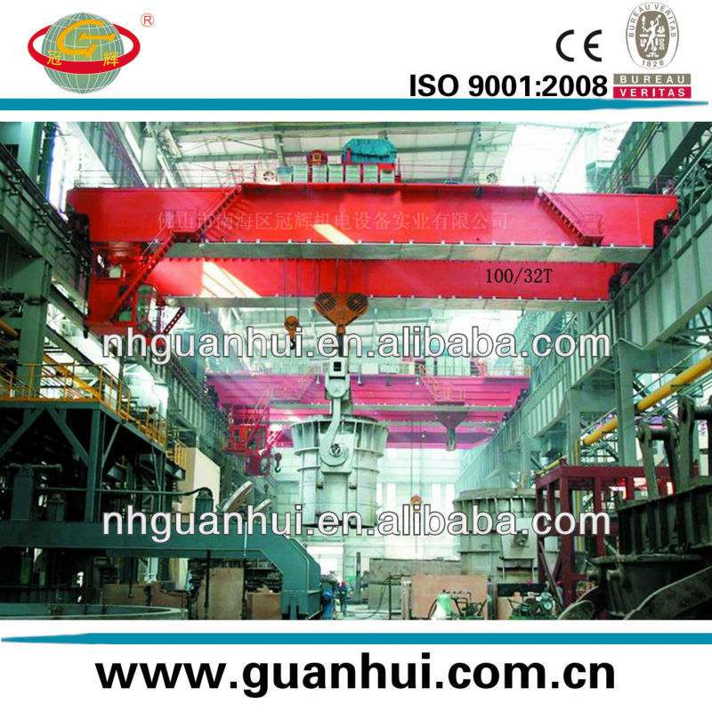 steel factory double girder overhead foundry crane