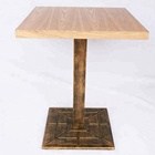 Square Antique Table Base Wooden Restaurant Dining Table With High Quality