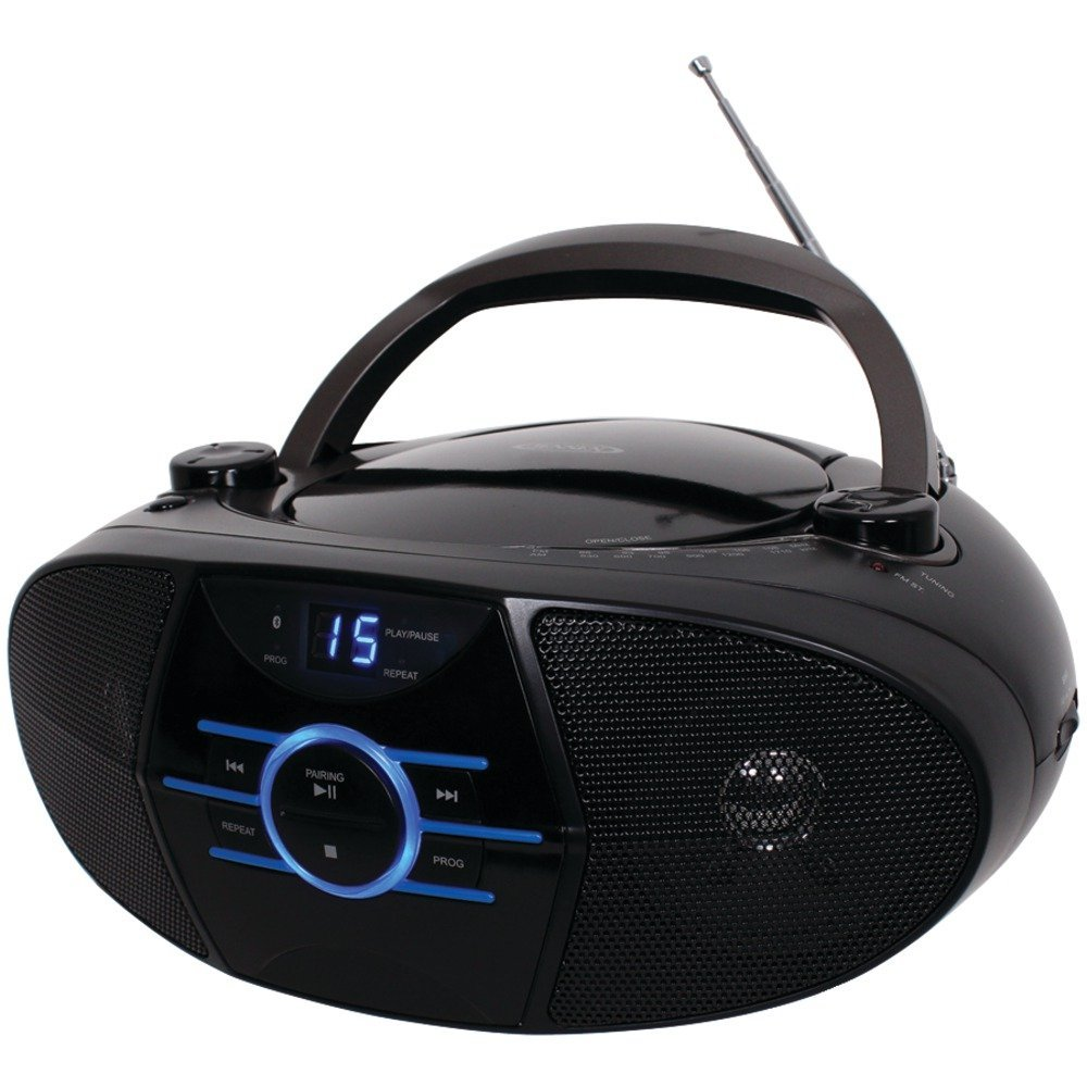 1 - Portable Stereo CD Player with AM/FM Stereo Radio & Bluetooth(R), Supports A2DP & AVRCP, Top-loading CD player, CD-560