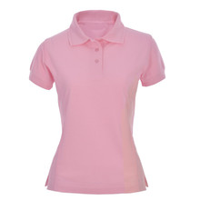 OEM Service Supply blank slim fit pink Short Sleeve women polo shirt