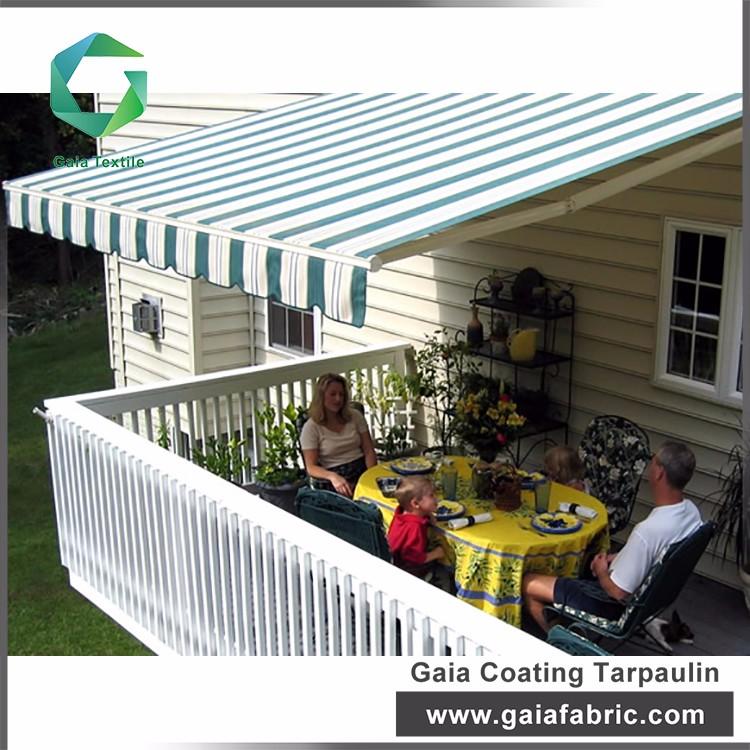 100% Polyester Waterproof Sunshade Outdoor Pvc Awning ...