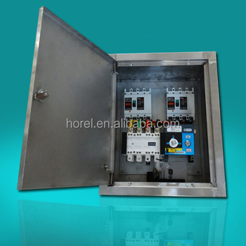 ATS dual power automatic transfer switch with metal box