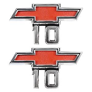 (2) 67-68 Chevrolet Chevy Pickup Bowtie 10 fender emblem C/K Suburban