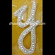 Sparkling decorative wholesale letters alphabet Y rhinestone crystal diamond applique patch for dress/bag/garment decoration
