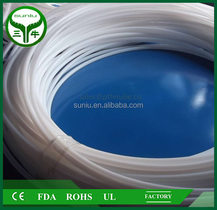 virgin ptfe tubing Transparent High Shrinkage Heat Shrinkable Teflon Tubing sales@ptfetube.co