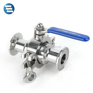 1/2, 3/4, 1, 1 1/2, 2, 3, 4 Inch Stainless Steel Sanitary Ball Valve Price