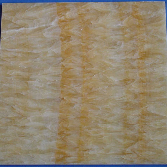 Kb Stone Hot Sale 12x12 Yellow Onyx Marble Design Bathroom Flooring
