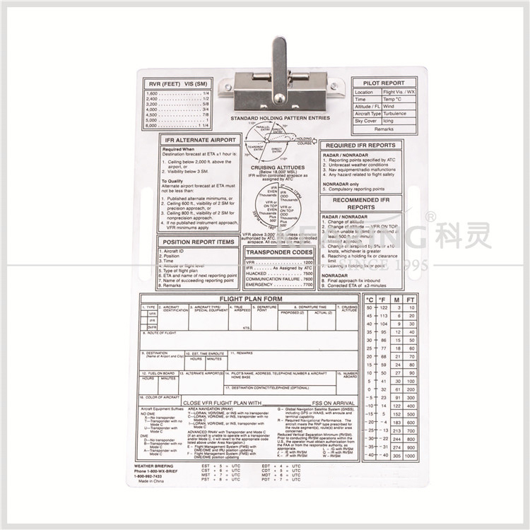 Chinese Manufacturer Customized Metal Pilot Aviation Clipboard ...
