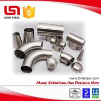 stainless steel food industry pipe fittings tp304 tp316 stainless steel pipe fittings