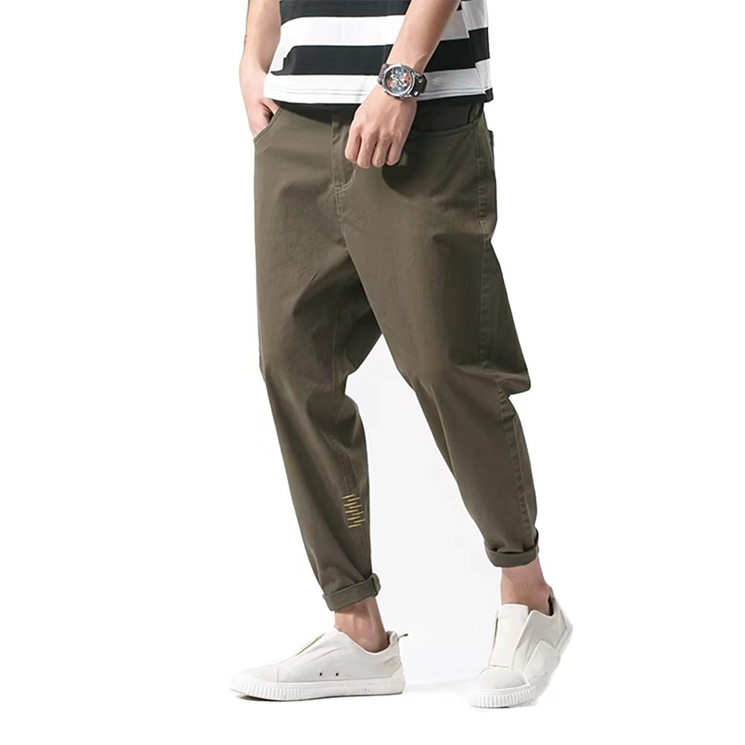 12a800c22df0 Get Quotations · zhenzhou 2018 Spring Chinese Style Harajuku Retro Roasted  Snow Sports Pants Casual Pants Trousers Men