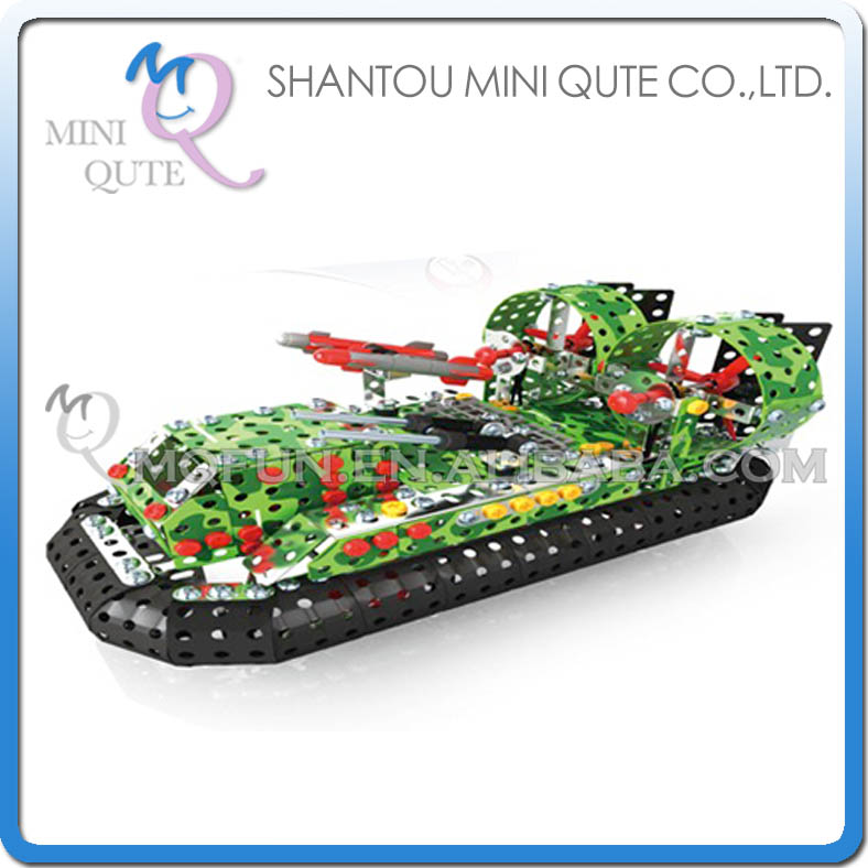 MINI QUTE Hovercraft Iron commander metal connect puzzle Assembly DIY building blocks kid educational toys NO.816L-6