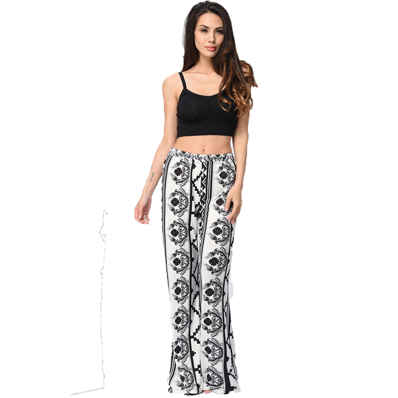 Boho comfy floral bell bottom trousers belly dancing pants