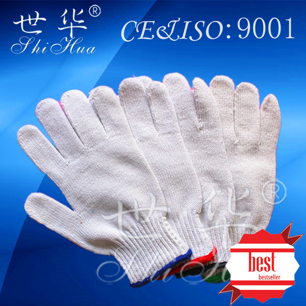 constraction safety product cotton knitted work glove