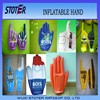 promotional PVC inflatable cheer hand with customed logo and shape