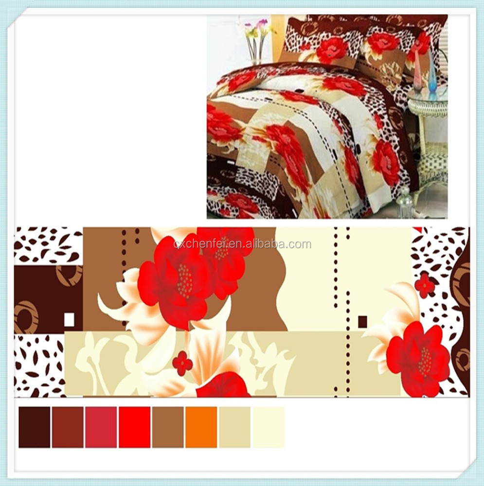 Quality Hot Selling Wholesale Price Wax Print Fabric African Brushed Pattern And Plain Style Micro Dyed Bedding Fabric