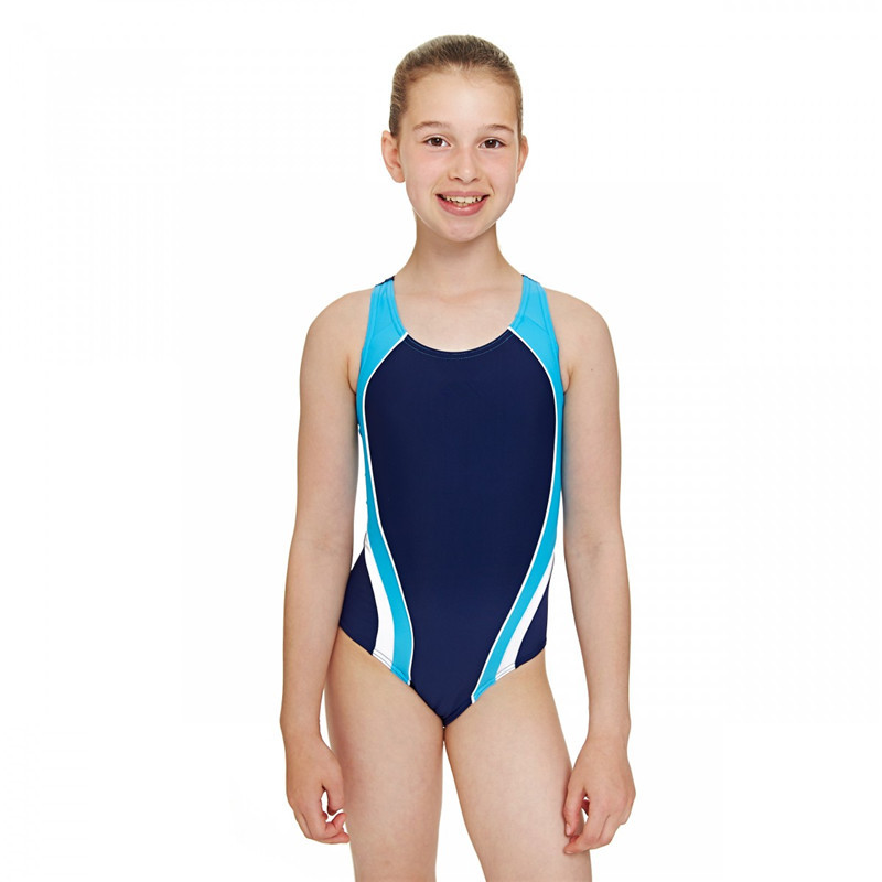 Sporty Style Side Panels Actionback Teen Girls One Piece ...
