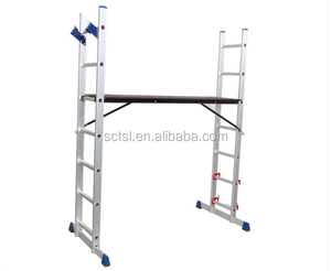 Factory price household aluminum trolley Extension Multifunction Step Scaffold Ladder made in China
