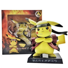 Japan anime figure Pocket Monster Pikachu cos Naruto 13cm toy action figure
