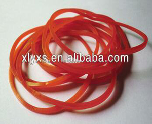 Custom red silicone rubber band