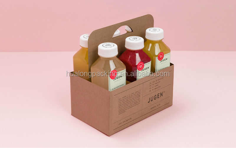 Corrugated cardboard six pack holder for drink buy six for Six pack holder template