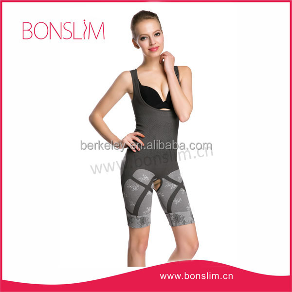 BS-WB903B Eco-Friendly Sexy Women's Natural Bamboo Charcoal Slimming Body Shaper