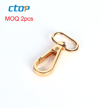 high end handbag hardware swivel metal snap hook wholesale bag hook  bag nickel hook