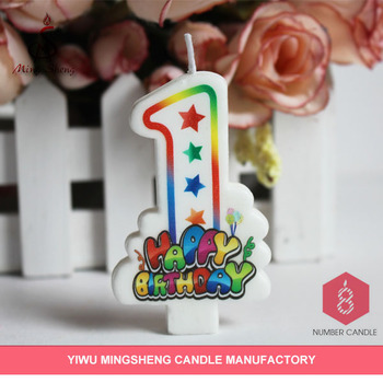 New Item Fancy Number China Wholesale Birthday Candles