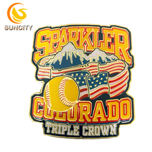 2018 Hoge kwaliteit custom <span class=keywords><strong>honkbal</strong></span> pin sparkler Colorado Triple Crown metalen pin zacht email revers pin