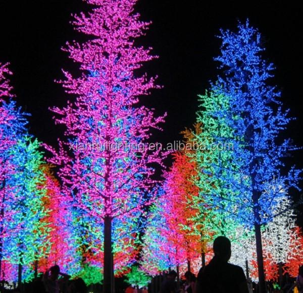 Alta simulaci n led iluminado rboles de la calle adornos - Arbol navidad led ...