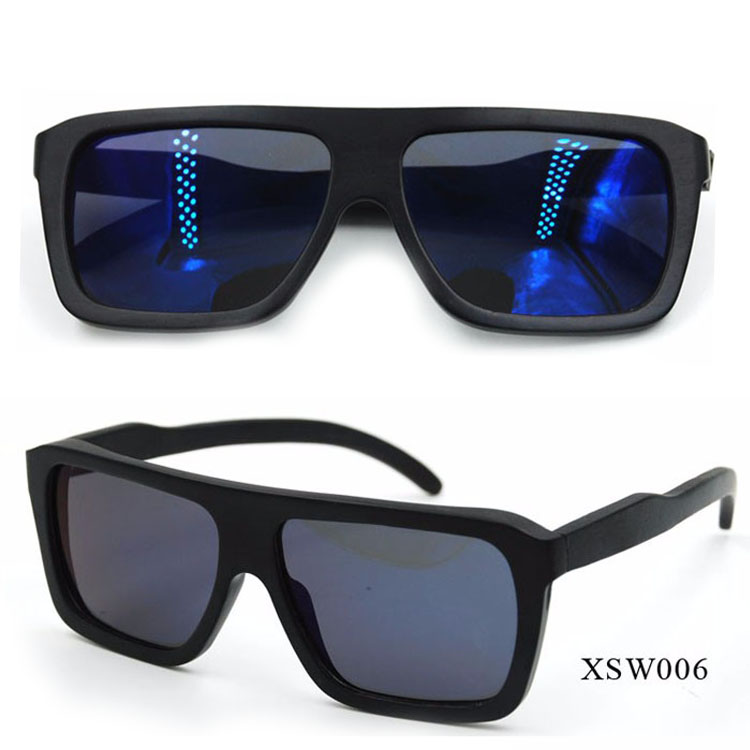black wood Bamboo Sunglasses polarized lens high quality sunglass