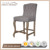 Traditional Upholstered Bar stools Vintage Wooden Bar Stool French Style with Tufted Buttons