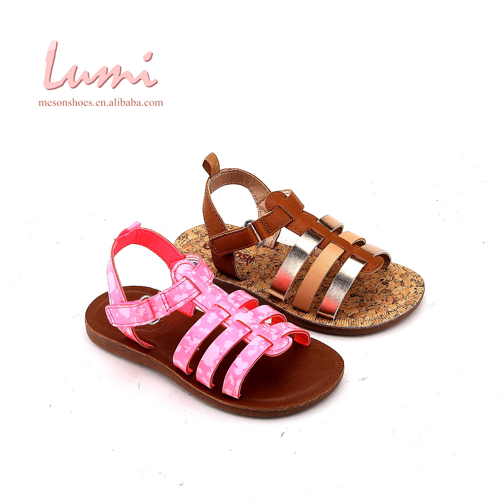 China manufacturer pink baby children graceful sandal shoes