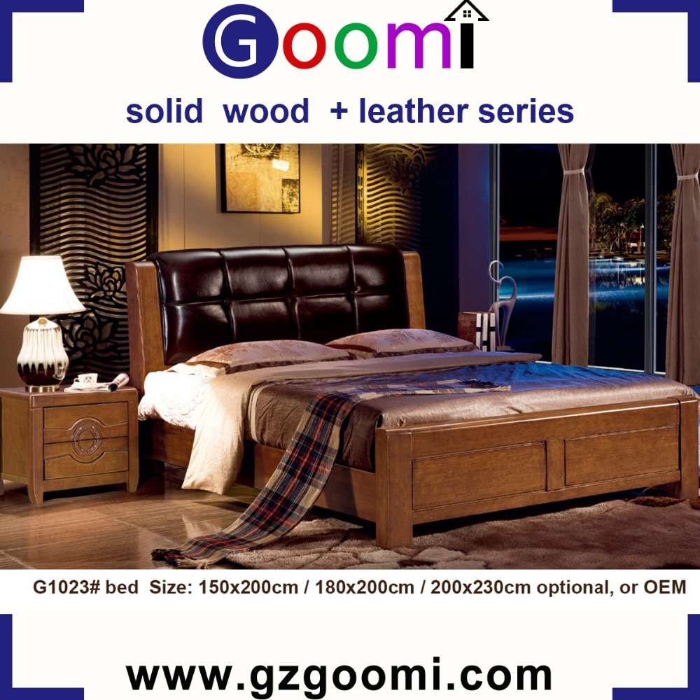 Factory Supply Home Use GanZhou Goomi Bedroom Furniture Solid Wood + PU or Genuine Leather price of sofa cum bed