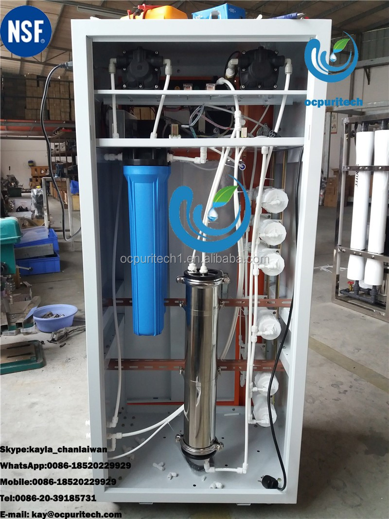 70l Hr Deionized Water High Purified Water Filter System