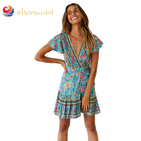 V Neck Summer Sexy Women New Design Beach Wrap Dress