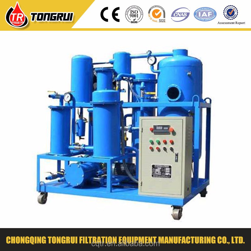 Black waste hydraulic oil processing machine decolorizing and dehydration