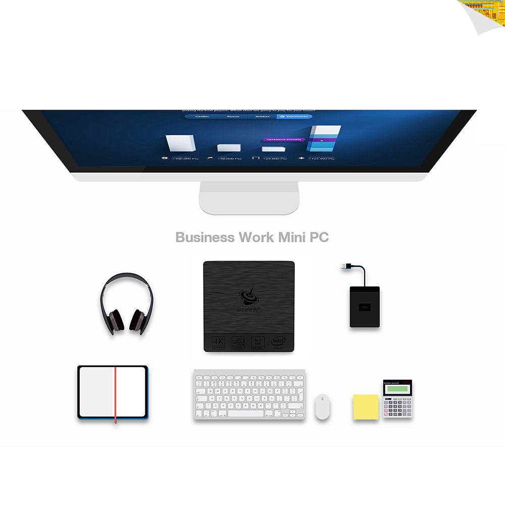 RAM 4G 64G ROM 64Bit Beelink BT3 Pro Original Mini PC WiFi BT 4.0 10 Intel Atom X5-Z8350 64Bit PK Beelink BT3 TV BOX